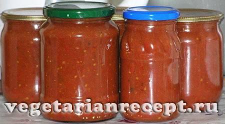 Томатный соус в домашних условиях на зиму - 5 рецептов с фото пошагово