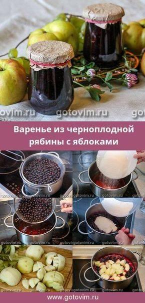 Варенье из черноплодной рябины — рецепты приготовления в домашних условиях