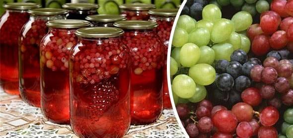 Виноград в сиропе на зиму: рецепты и 2 способа приготовления, хранение заготовок