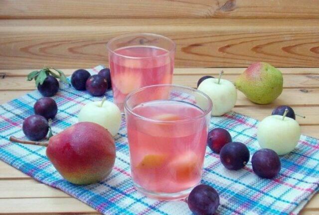 Компот из черноплодной рябины на зиму — рецепты с яблоками и вишневым листом в 3-литровой банке