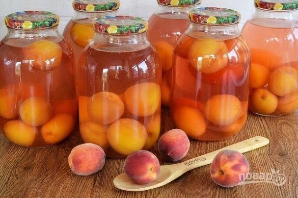 Консервированные персики на зиму (рецепт без стерилизации)
