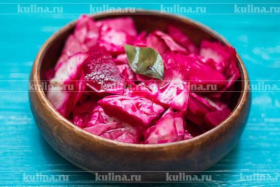 Маринованная капуста со свеклой – 4 рецепта заготовки
