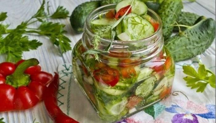 Салат из перезрелых огурцов на зиму