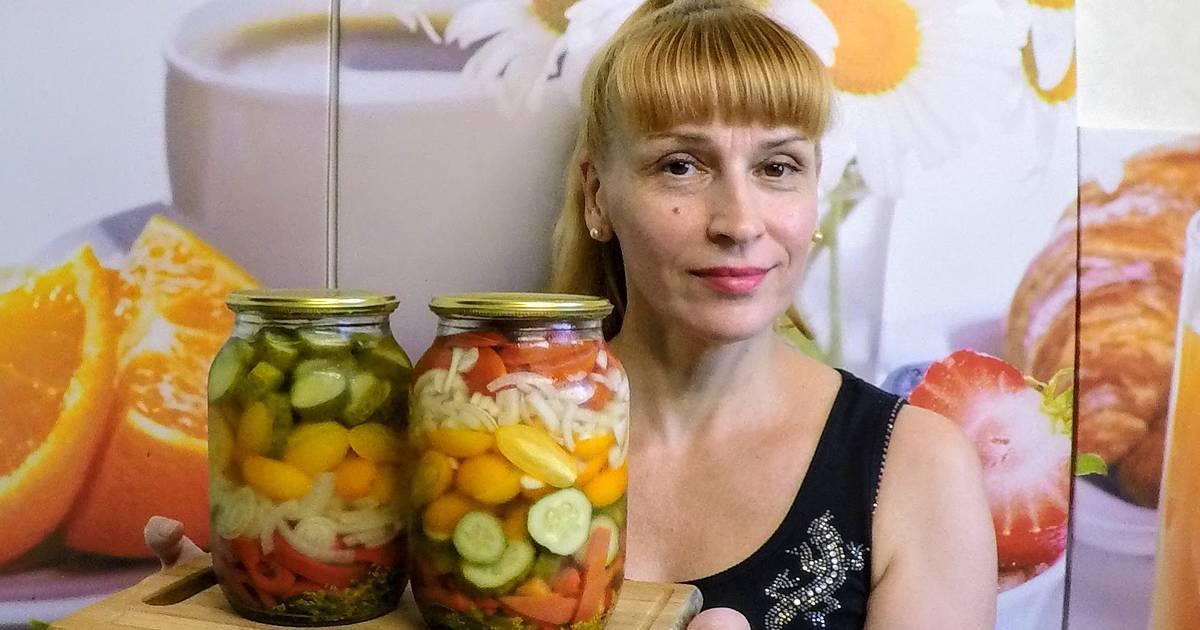 Салат из кабачков с огурцами на зиму