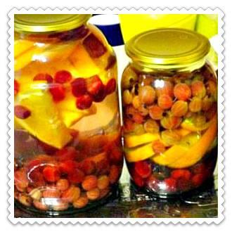 Компот из яблок и крыжовника: простой рецепт на зиму с фото и видео