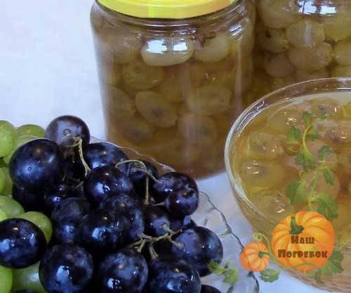 Джем из винограда — вкусный десерт