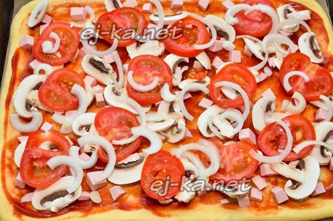 Соус для пиццы на помидорах и луке