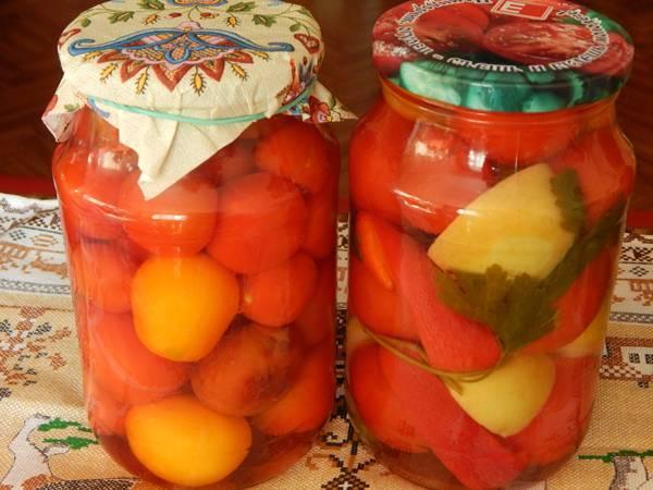 Как правильно приготовить маринованные помидоры по-немецки на зиму с яблоками, простые способы заготовки