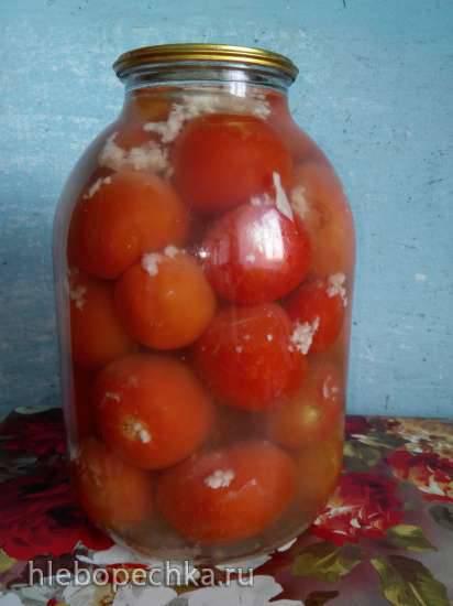 Помидорки в снегу. помидоры в снегу с чесноком на зиму: рецепт консервирования с видео