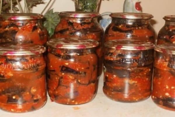 18 лучших пошаговых рецептов приготовления баклажанов с помидорами на зиму