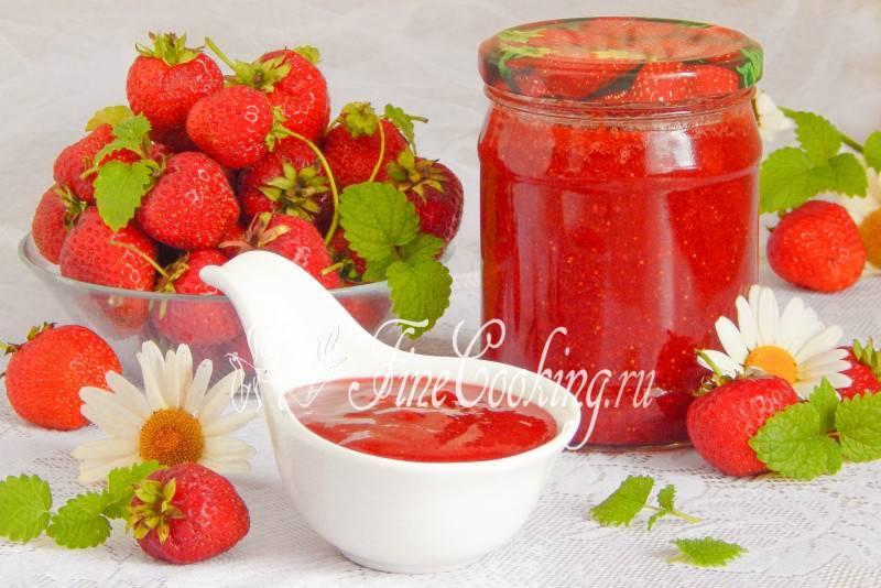 Густое варенье из клубники на зиму с целыми ягодами – классические рецепты