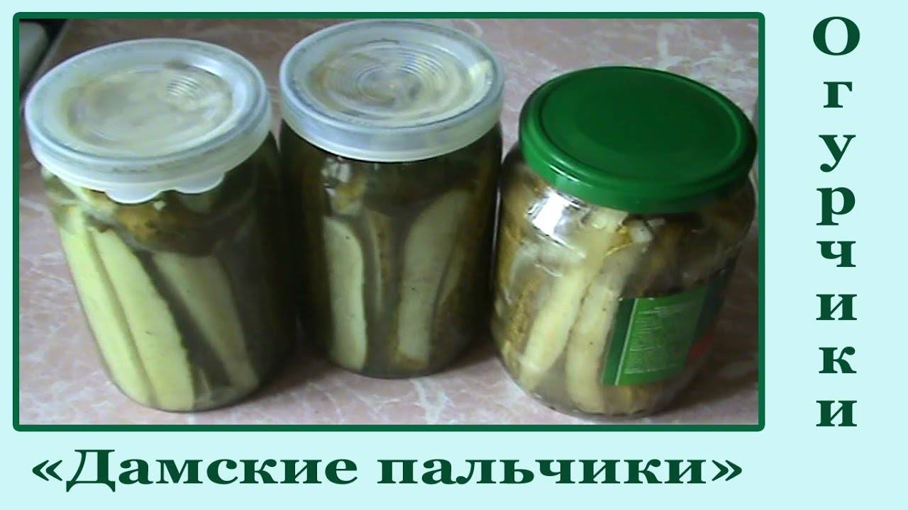 Огурцы «дамские пальчики»— рецепт вкусной заготовки на зиму с фото и видео