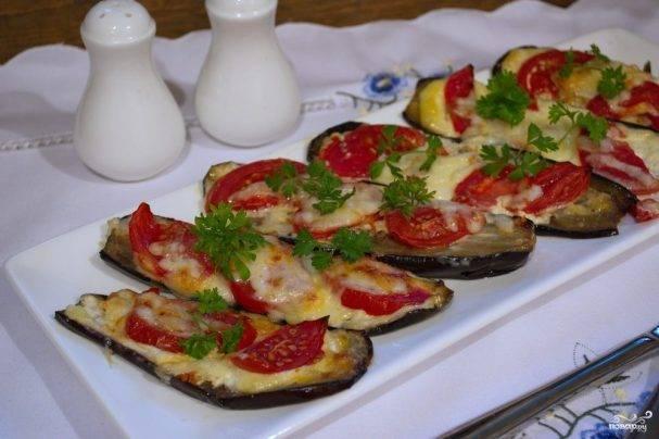Закуска из баклажанов с помидорами и чесноком