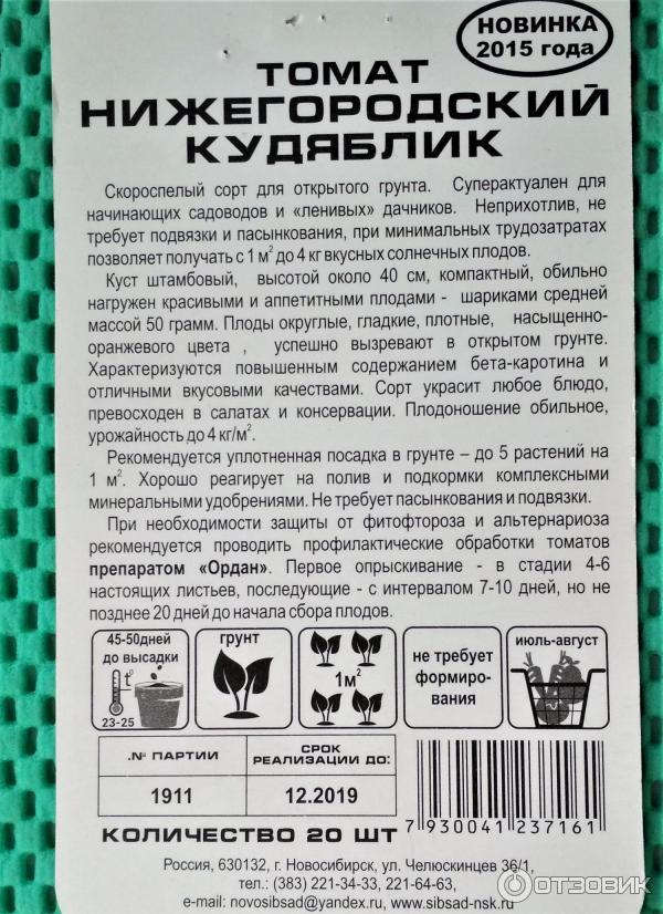 Томат нижегородский кудяблик: описание и характеристика сорта, отзывы садоводов с фото