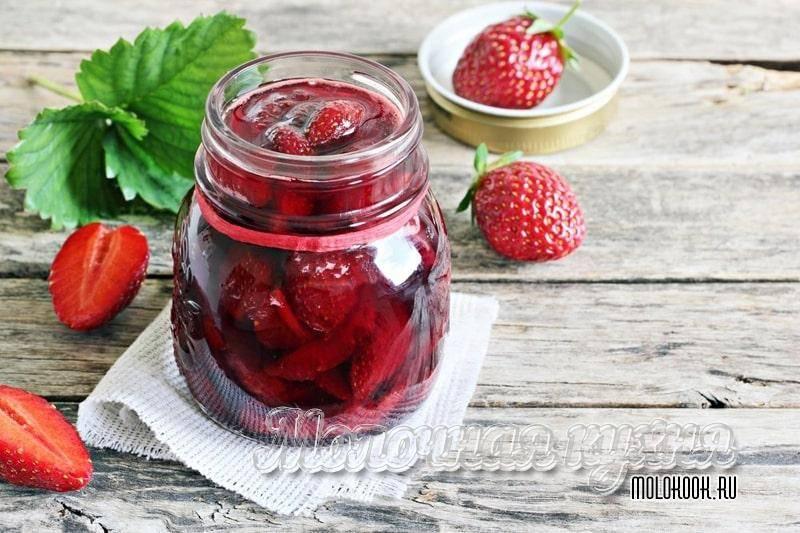 Варенье из клубники. как сварить его густым с целыми ягодами