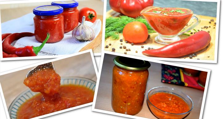 Аджика без варки — 8 классических рецептов аджики из помидор и чеснока на зиму