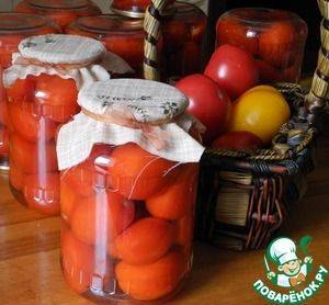 Пошаговый рецепт зеленых помидоров в томате на зиму