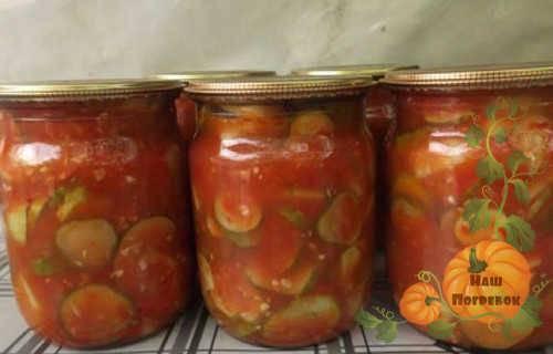 Как приготовить огурцы в томатном соке на зиму: 7 лучших рецептов