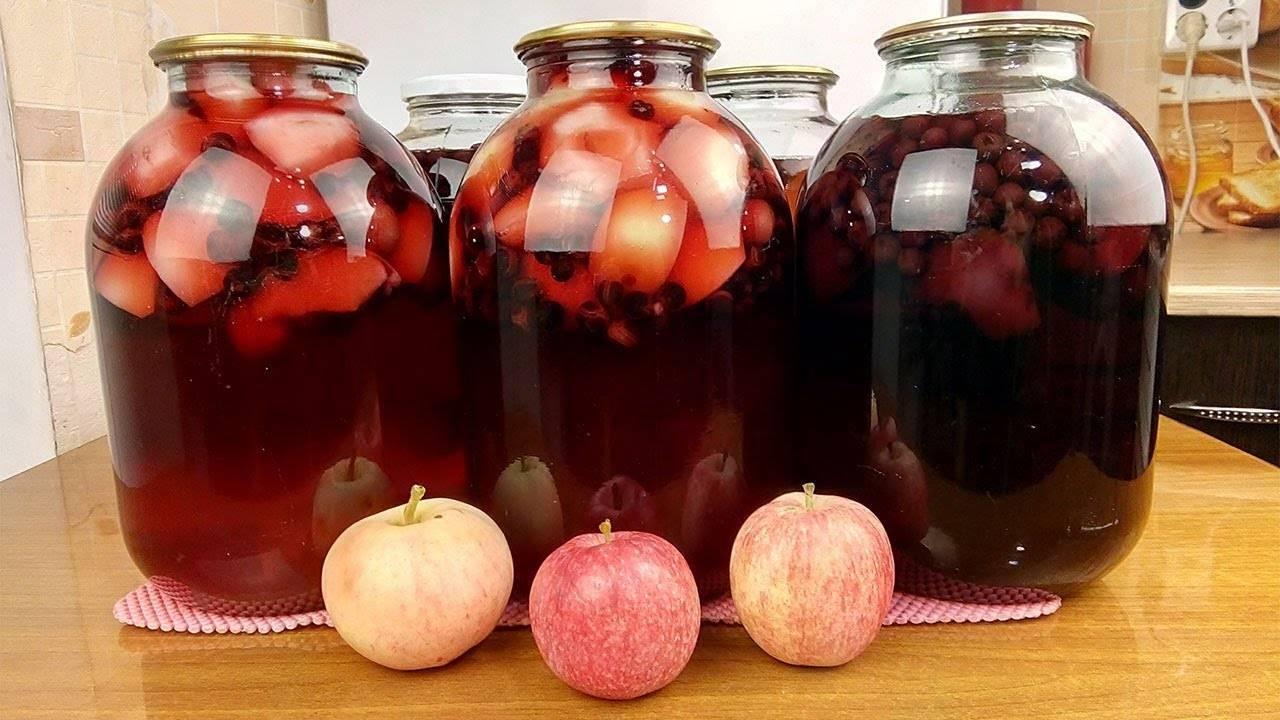 Топ 2 рецепта приготовления на зиму компота из яблок с лимоном