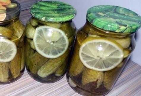 Рецепты маринования огурцов с лимоном на зиму