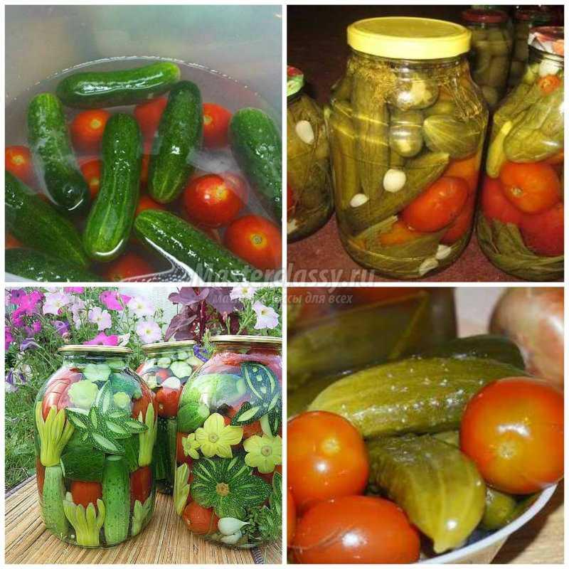 Ассорти из огурцов и помидоров на зиму — рецепты заготовок