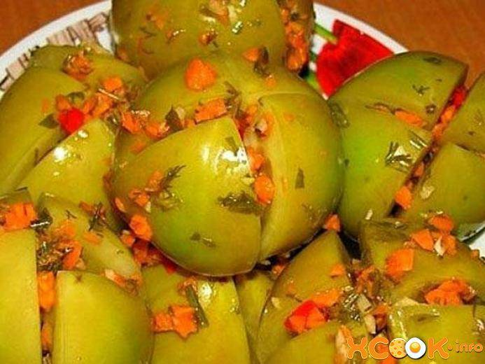Зеленые помидоры на зиму - простой рецепт в банках с фото (+8 рецептов)