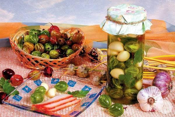Крыжовник по-царски или маринованный. как заготовить ягоды на зиму