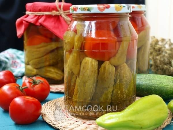 Легкие рецепты маринованных огурцов и помидоров «ассорти» с овощами