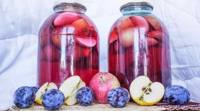 Простой рецепт приготовления компота из яблок и вишни на зиму