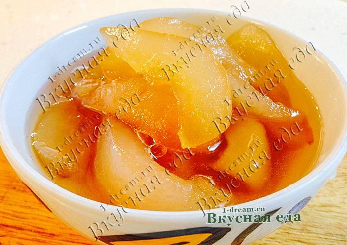 Янтарное варенье из груш дольками - 5 рецептов с фото пошагово