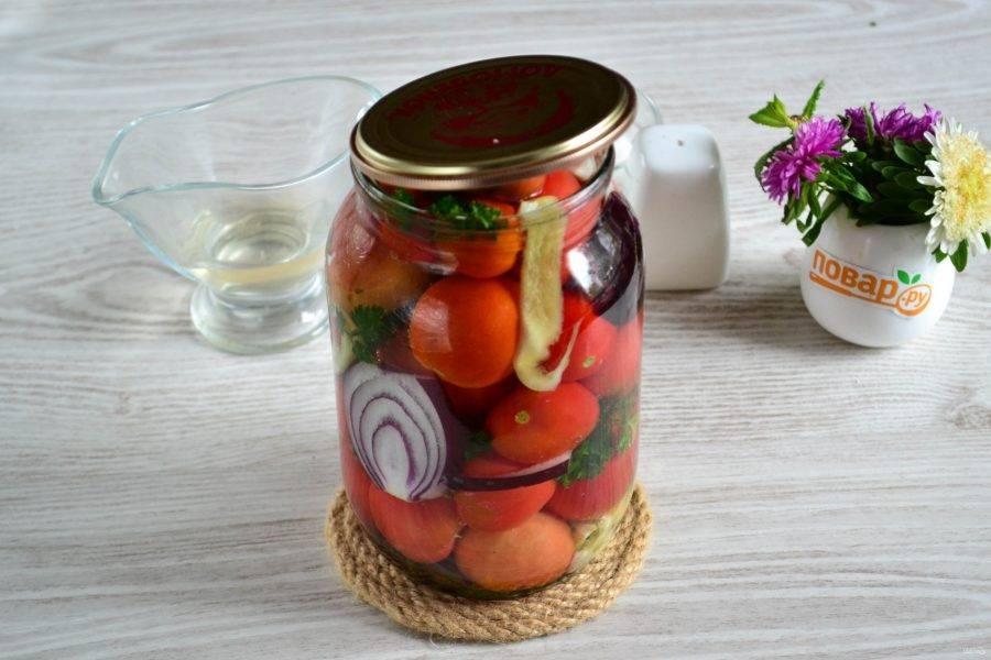 Помидоры с яблочным уксусом на зиму: рецепты маринования с фото и видео