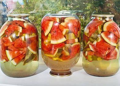 Вкусные арбузы на зиму: лучшие рецепты приготовления