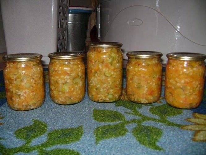 Заготовки на зиму— рецепты овощных салатов с крупами