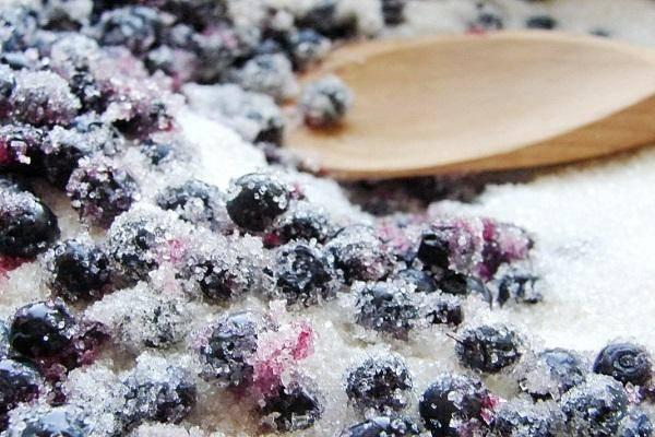 Черника протертая с сахаром пошаговый рецепты с фото