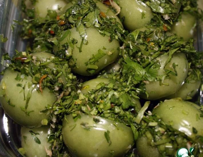 Салат из зеленых помидоров на зиму — очень вкусные рецепты с фото