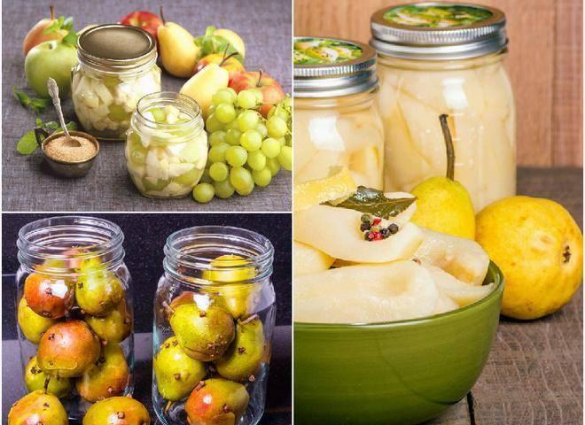 9 простых рецептов приготовления маринованных груш на зиму