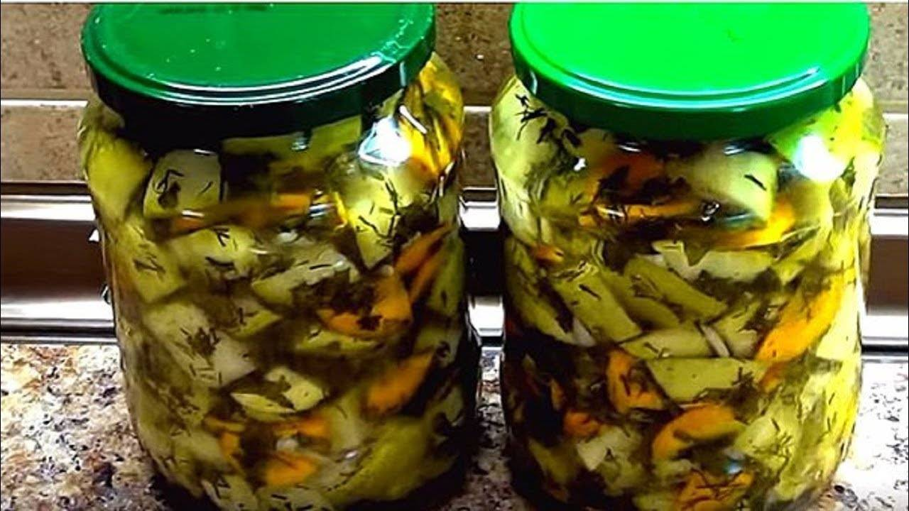 Быстрые маринованные кабачки мгновенного поедания
