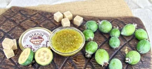 10 рецептов приготовления протертого с сахаром фейхоа на зиму