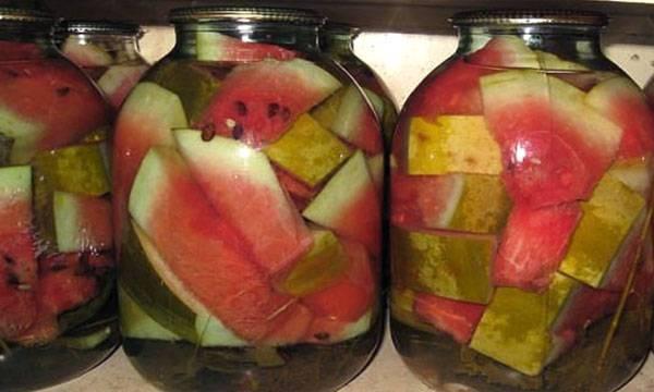 Вкусные рецепты быстрого приготовления маринованных арбузов на зиму в банках