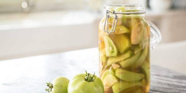 Выбираем оригинальный рецепт очень вкусных зеленых помидоров на зиму