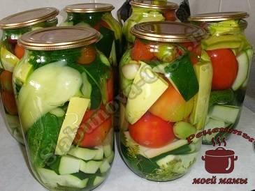 Лучшие рецепты овощных ассорти на зиму в домашних условиях