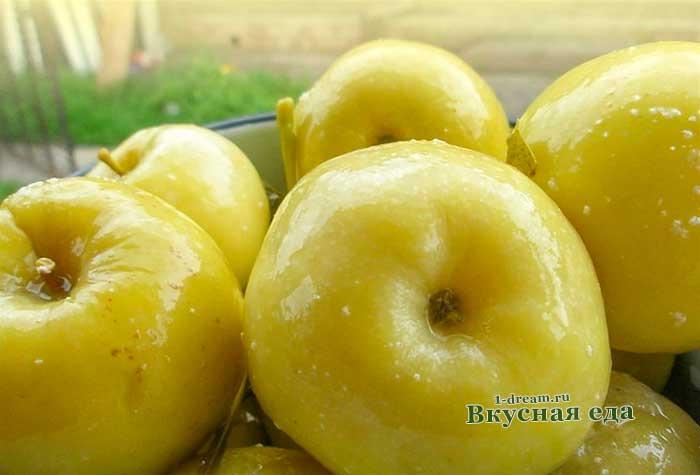 Маринованные яблоки рецепты
