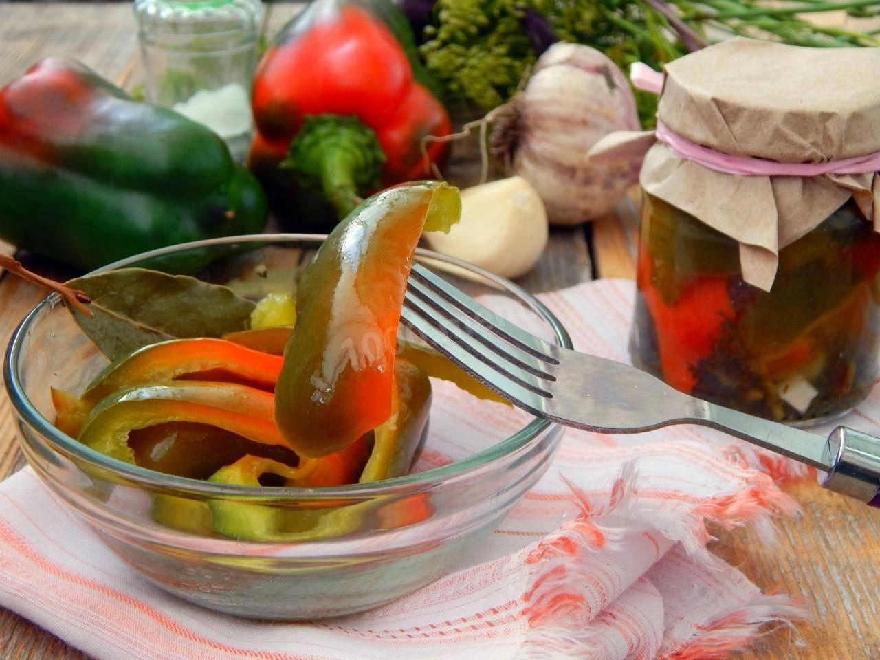 Рецепт фаршированного перца по болгарски, по венгерски, с овощами в маринаде