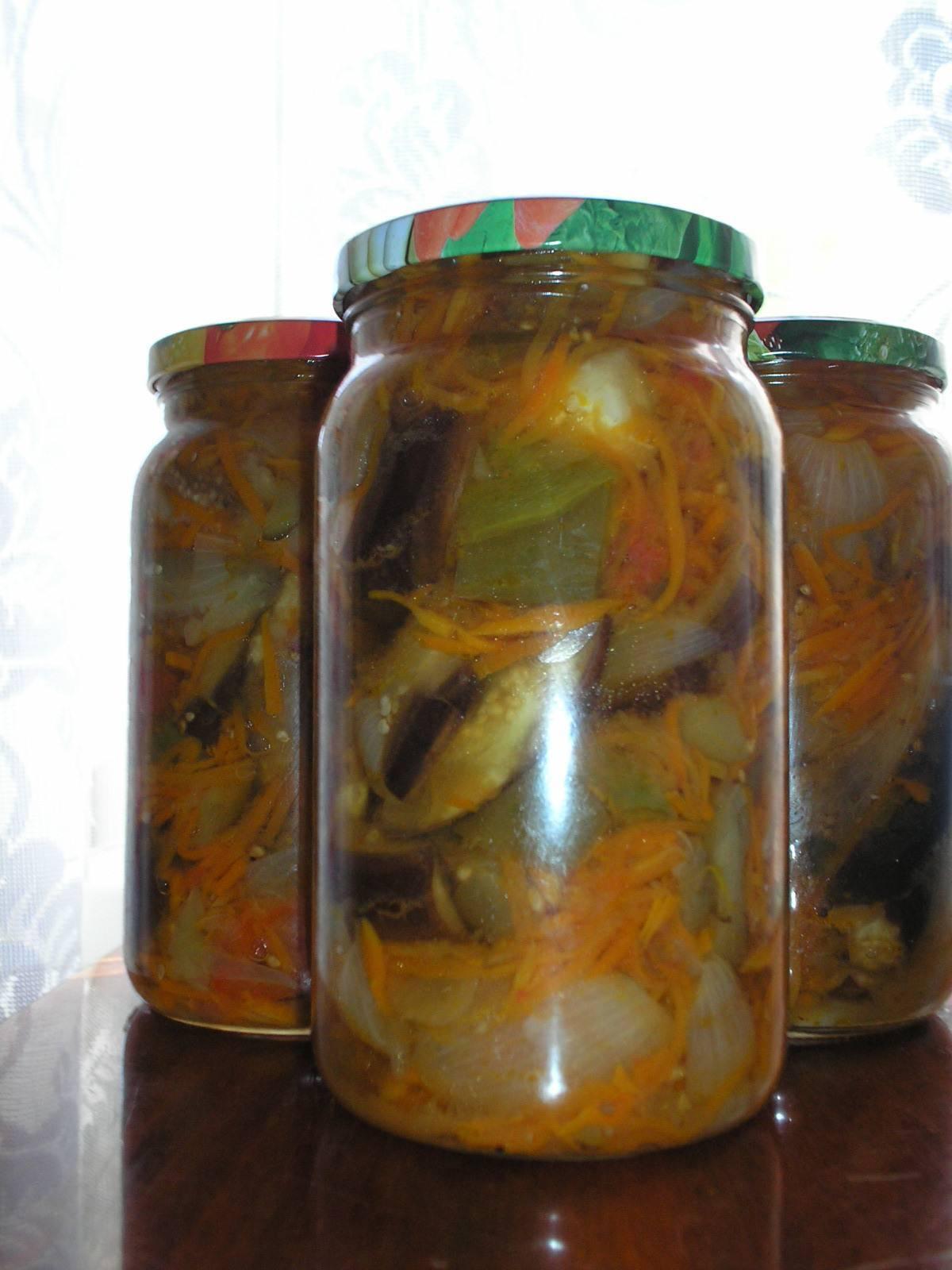 Салат десятка на зиму из баклажанов