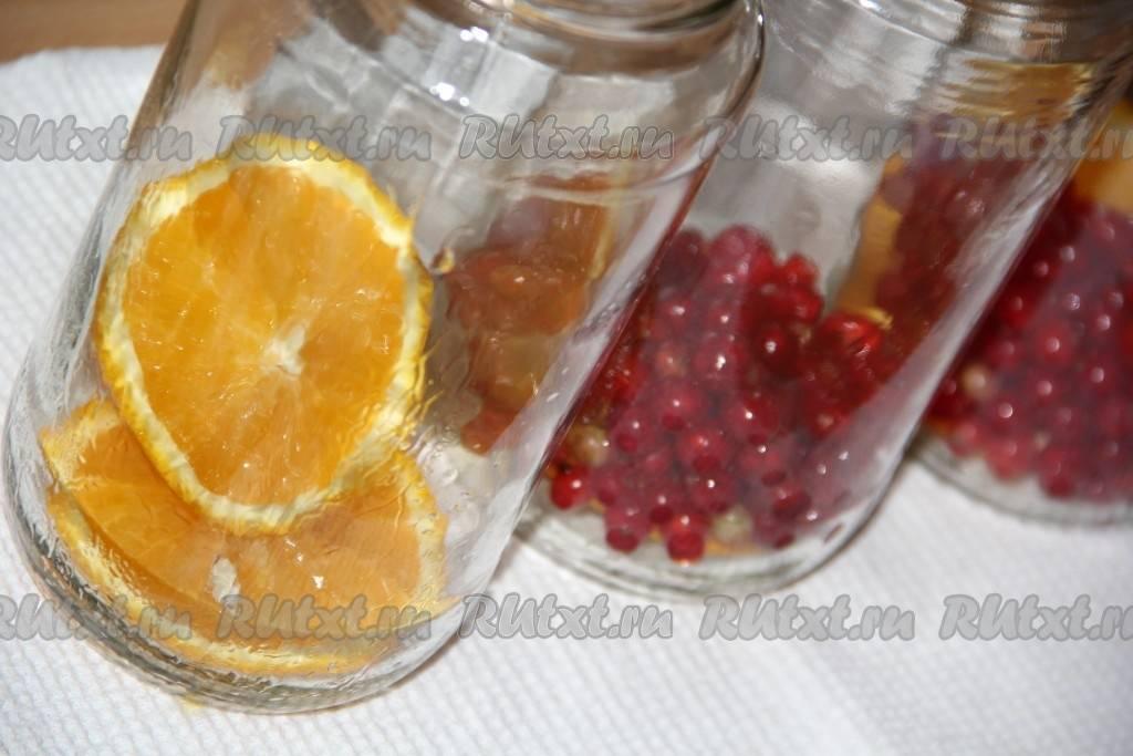 ТОП 5 рецептов компота из красной смородиныс апельсином на зиму