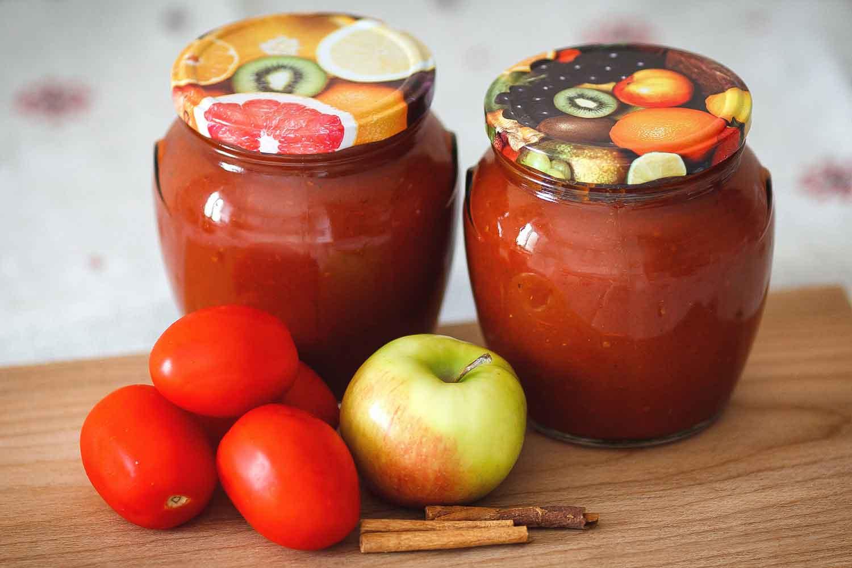 Рецепты приготовления помидоров с яблоками на зиму