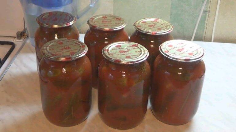 Огурцы в томатном соусе на зиму: рецепты заготовок