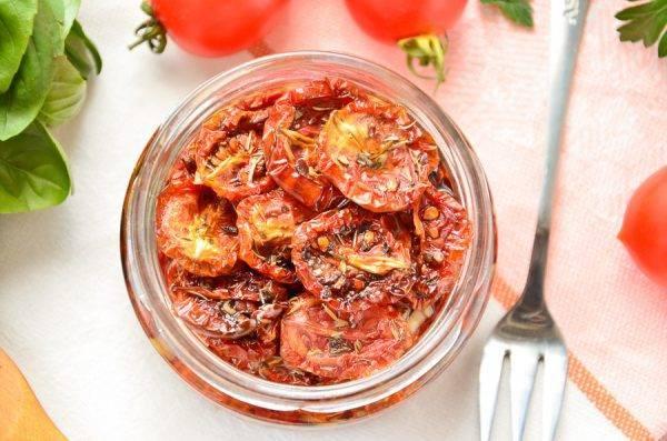 Вяленые помидоры с прованскими травами на зиму