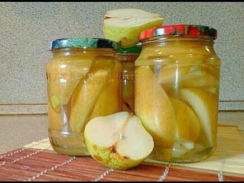 Заготовки из груш на зиму - 5 золотых рецептов с фото пошагово