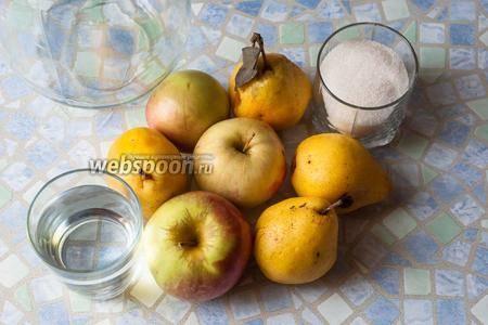 Фруктовый компот из свежих яблок без кожуры